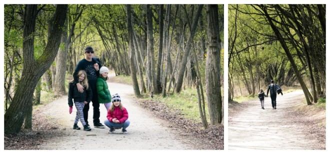 Family Photo time - beautifully framed by the trees