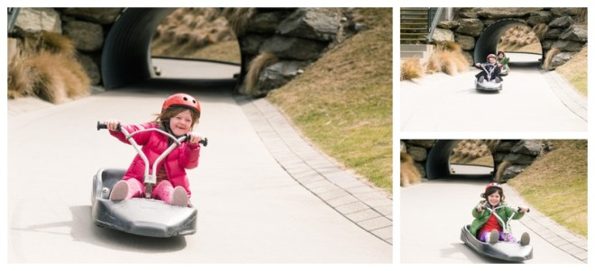 Luge fun - prior to the road rage