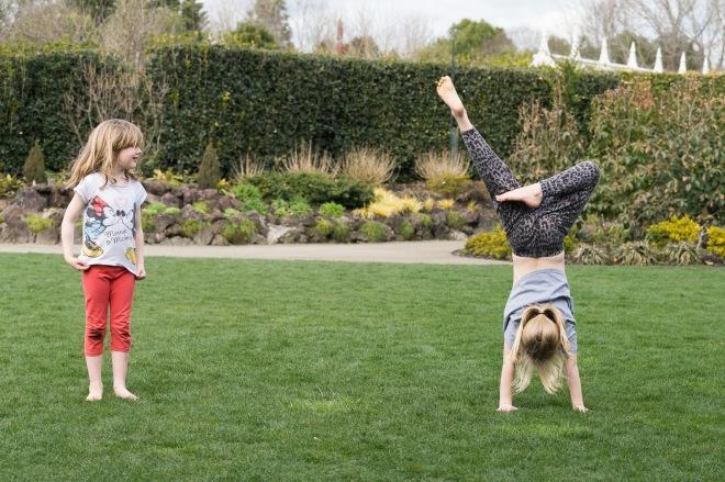 Handstands in the Gardens