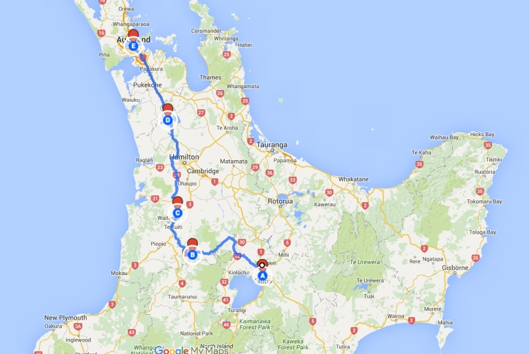 Alternate route to Taupo
