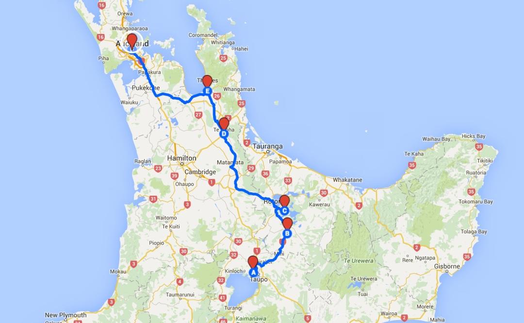 Alternative route to Taupo
